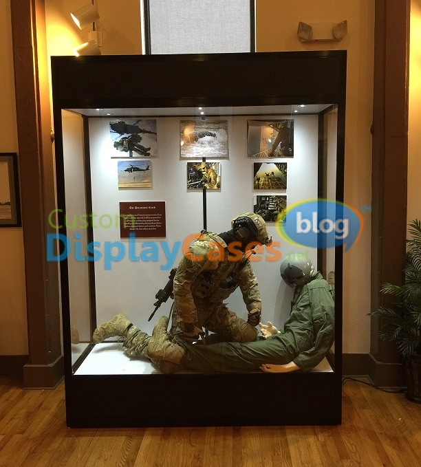 Custom display cases made for the us military archives custom display cases blog custom - Custom display cabinets ...